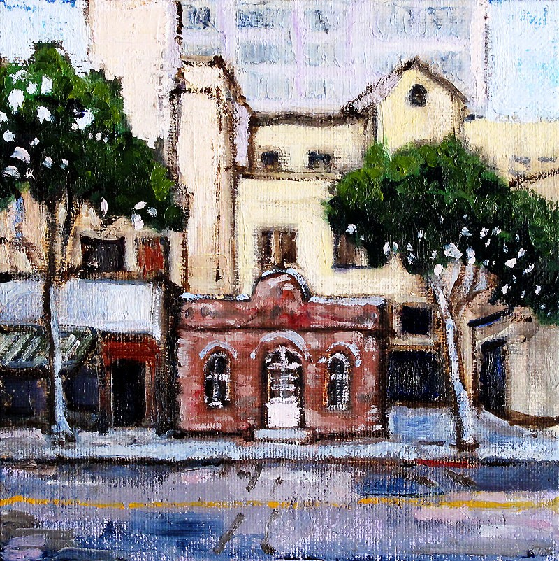 """Rapp Saloon, Santa Monica Painting"" original fine art by Kevin Inman"