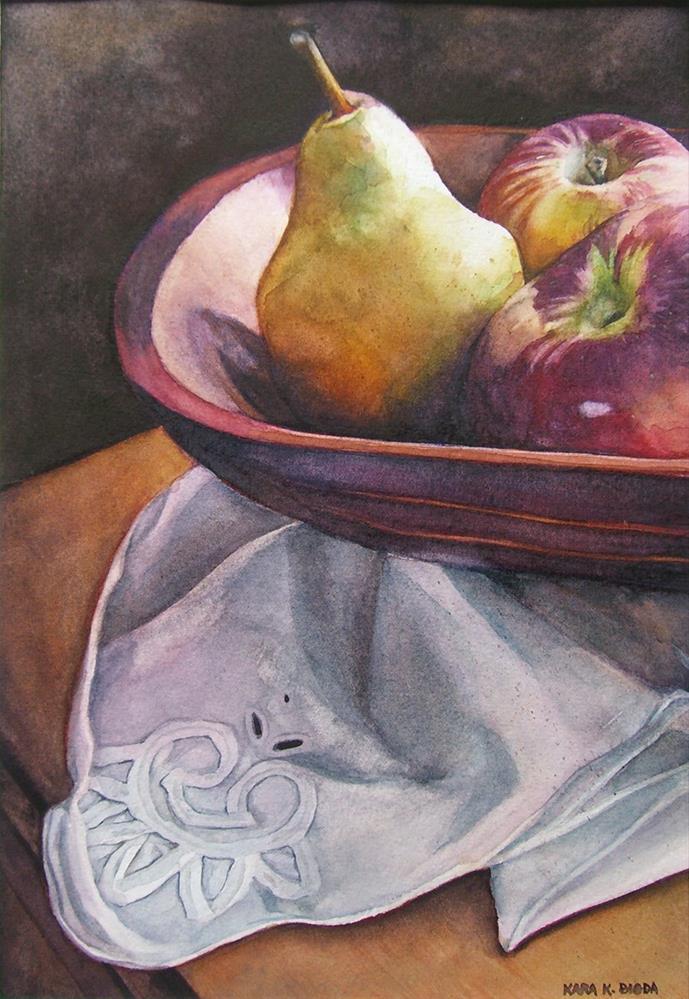 """Fruit in a Dough Bowl"" original fine art by Kara K. Bigda"