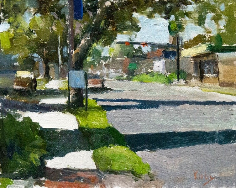 """Early Morning on Gordon Street"" original fine art by Randall Cogburn"