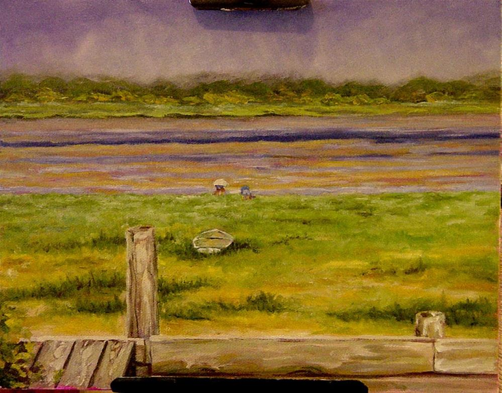 """Clam Diggers"" original fine art by Maria Levandowski"