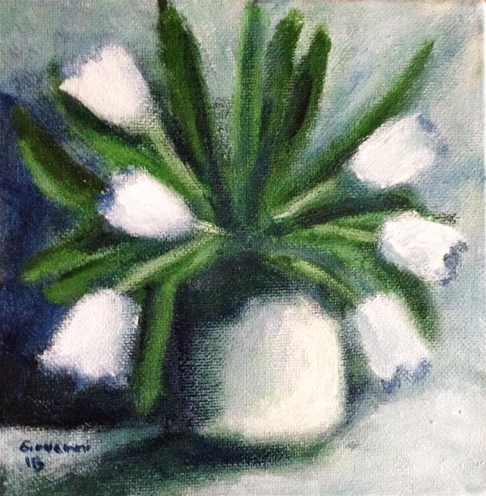 """White tulips"" original fine art by Giovanni Antunez"
