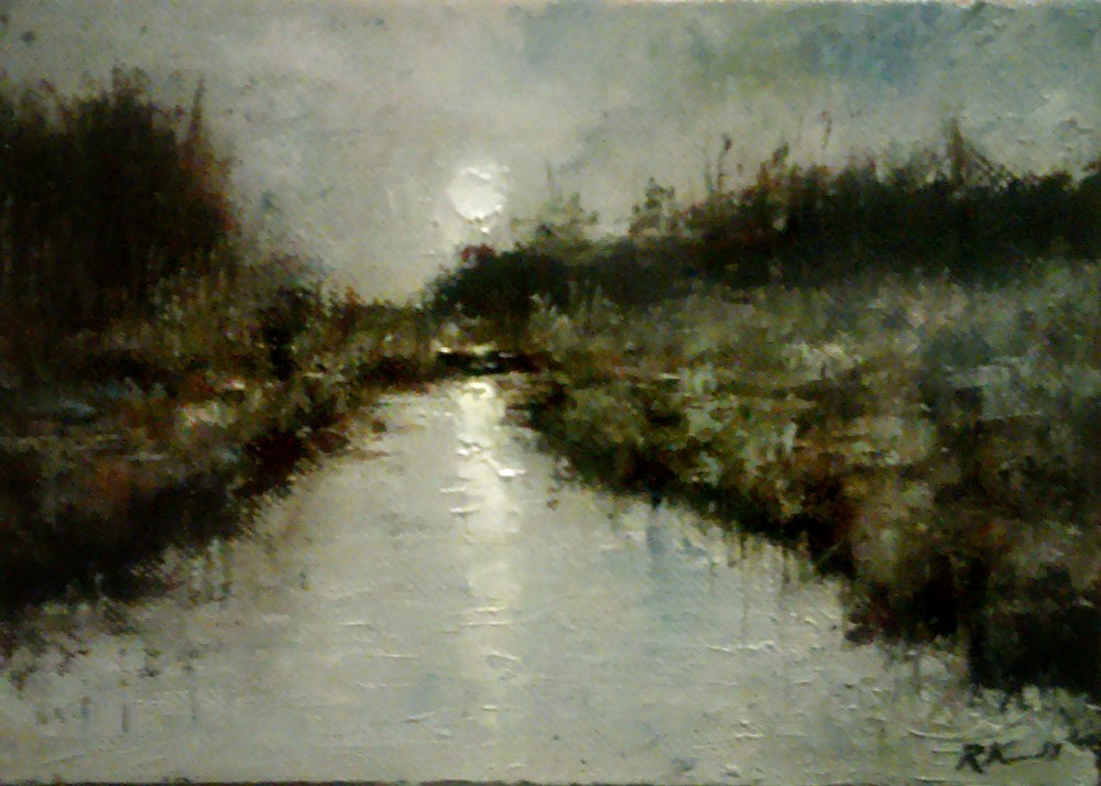 """""""Morning in the Marshes II"""" original fine art by Bob Kimball"""