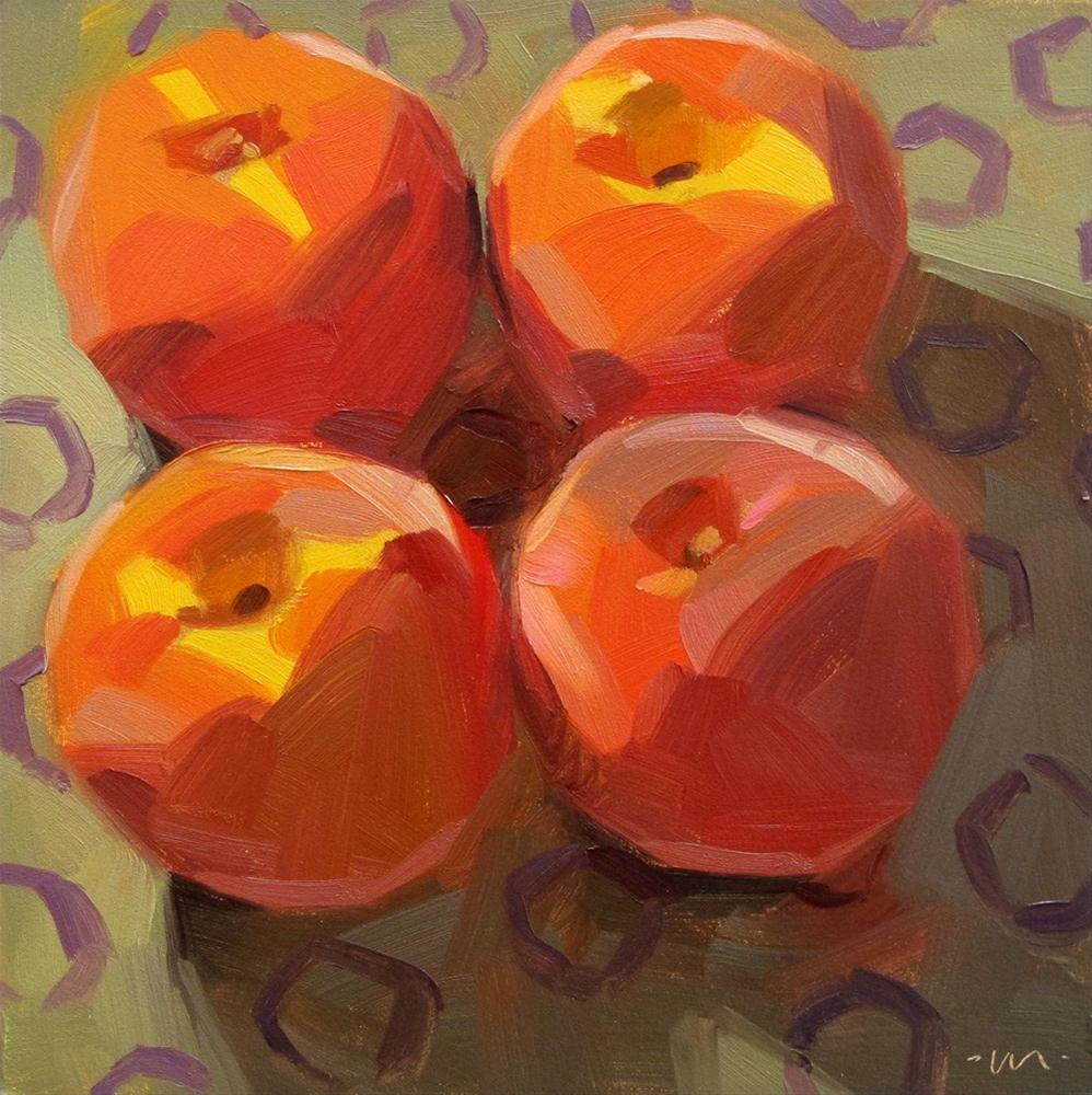 """Square Dancing Peaches"" original fine art by Carol Marine"