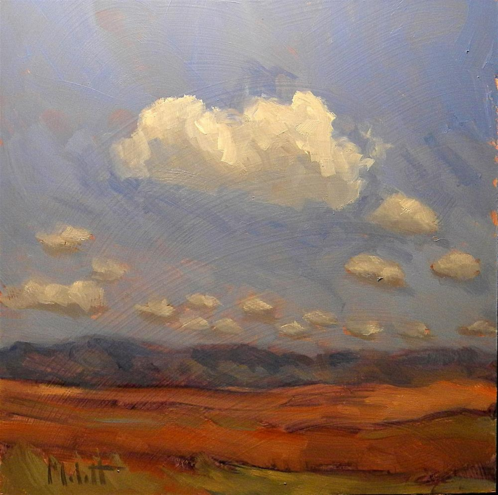 """8x8 in Southwest Landscape Contemporary Landscape"" original fine art by Heidi Malott"