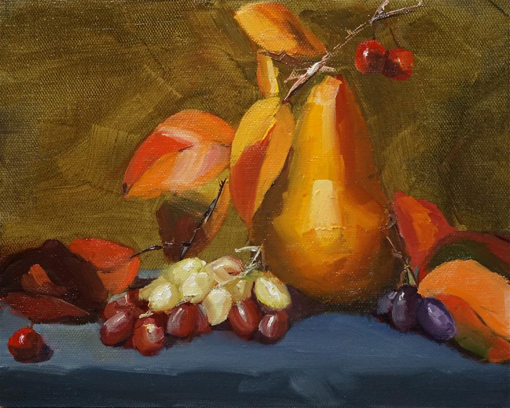 """Still Life with Pear"" original fine art by Catherine Van Berg"