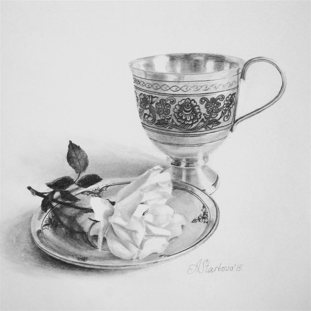 """Tea rose III"" original fine art by Anna Starkova"