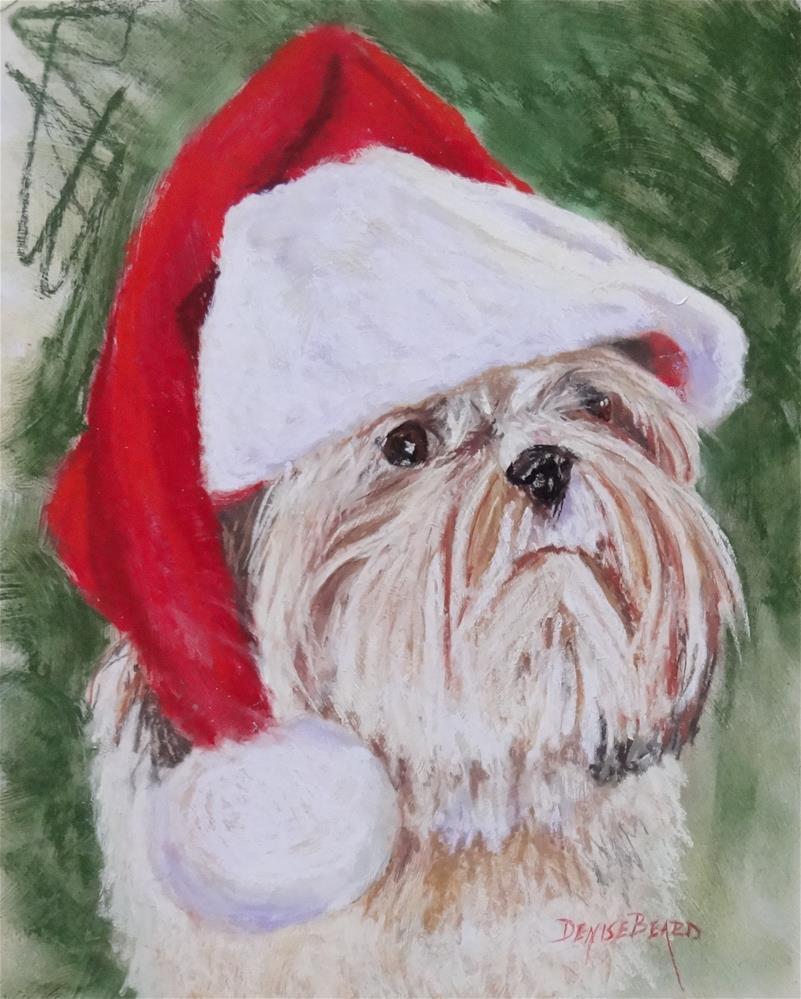 """""""Santa Spinner"""" original fine art by Denise Beard"""