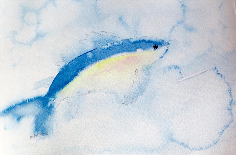 """Fish 0128"" original fine art by Michelina Frey"