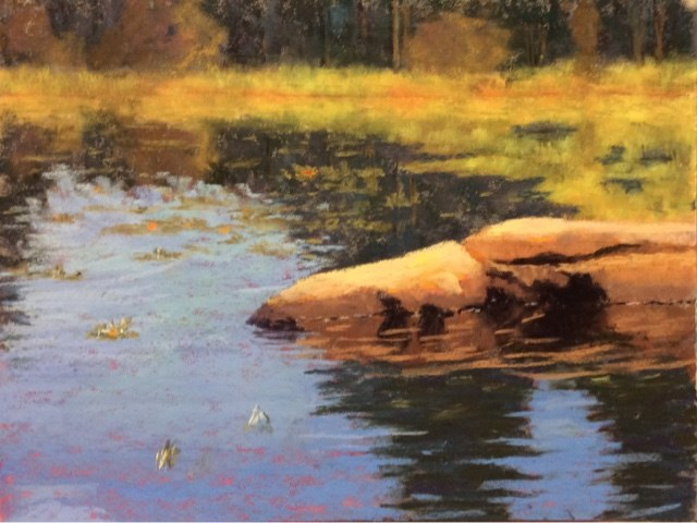 """OTTER POND"" original fine art by Marti Walker"