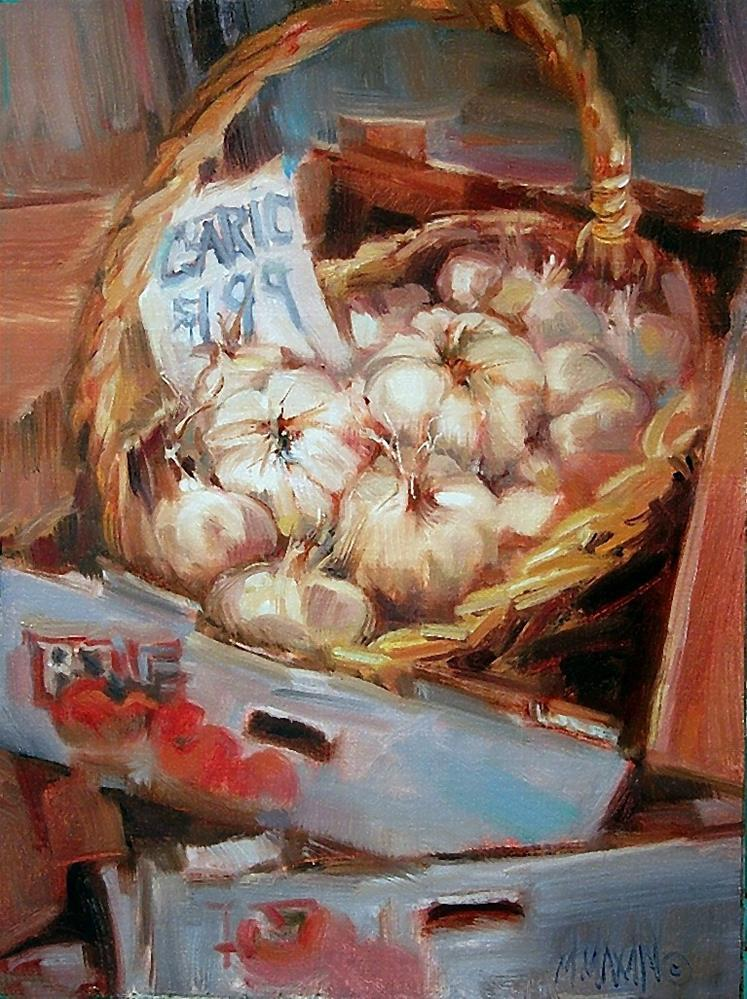 """Garlic Basket"" original fine art by Mary Maxam"