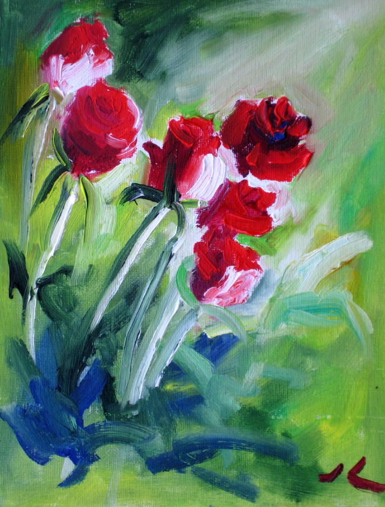 """Roses for You!"" original fine art by Julia Lu"