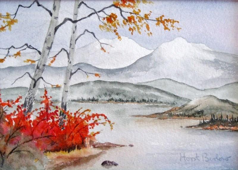 """Last days of Autumn"" original fine art by Horst Berlow"