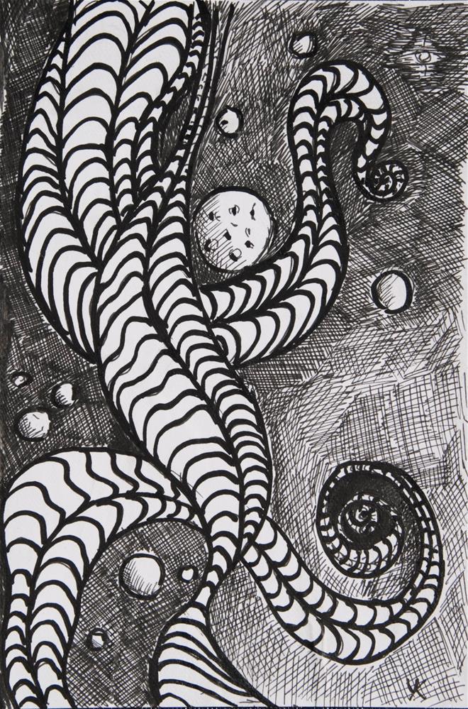 """Cosmos"" original fine art by Yulia Kazansky"