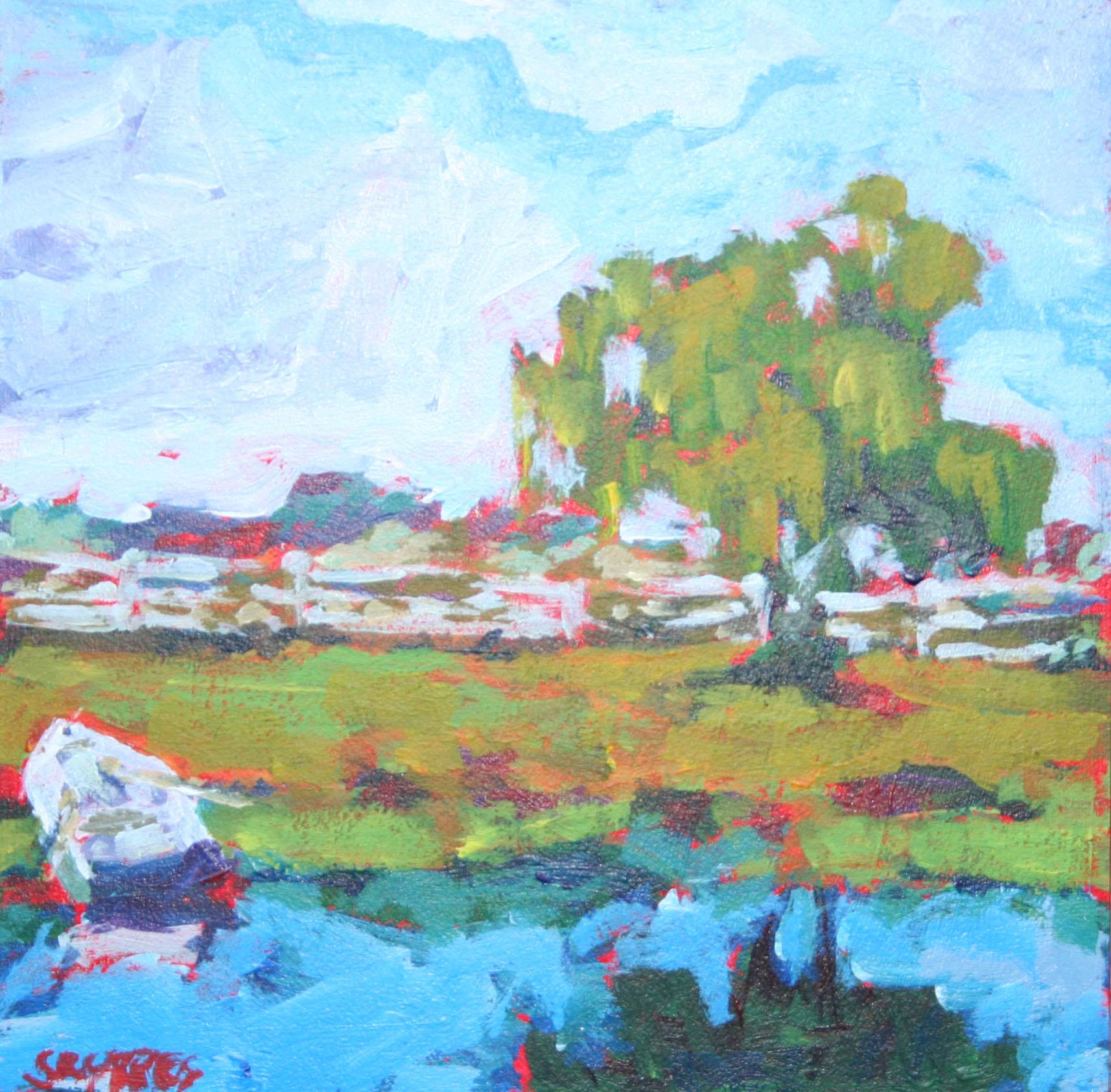 """willow tree"" original fine art by Shelley Garries"