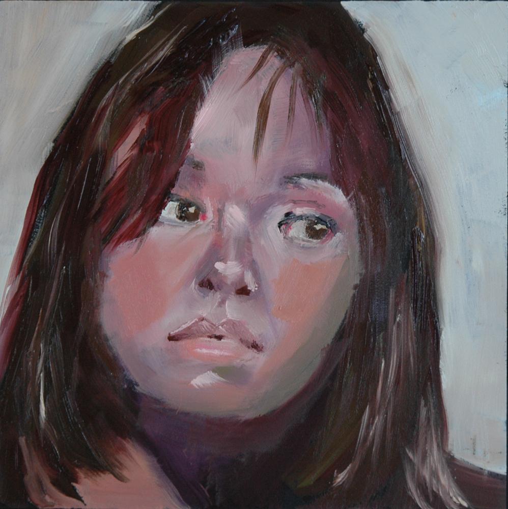 """""""FACE No. 44"""" original fine art by Linda Popple"""