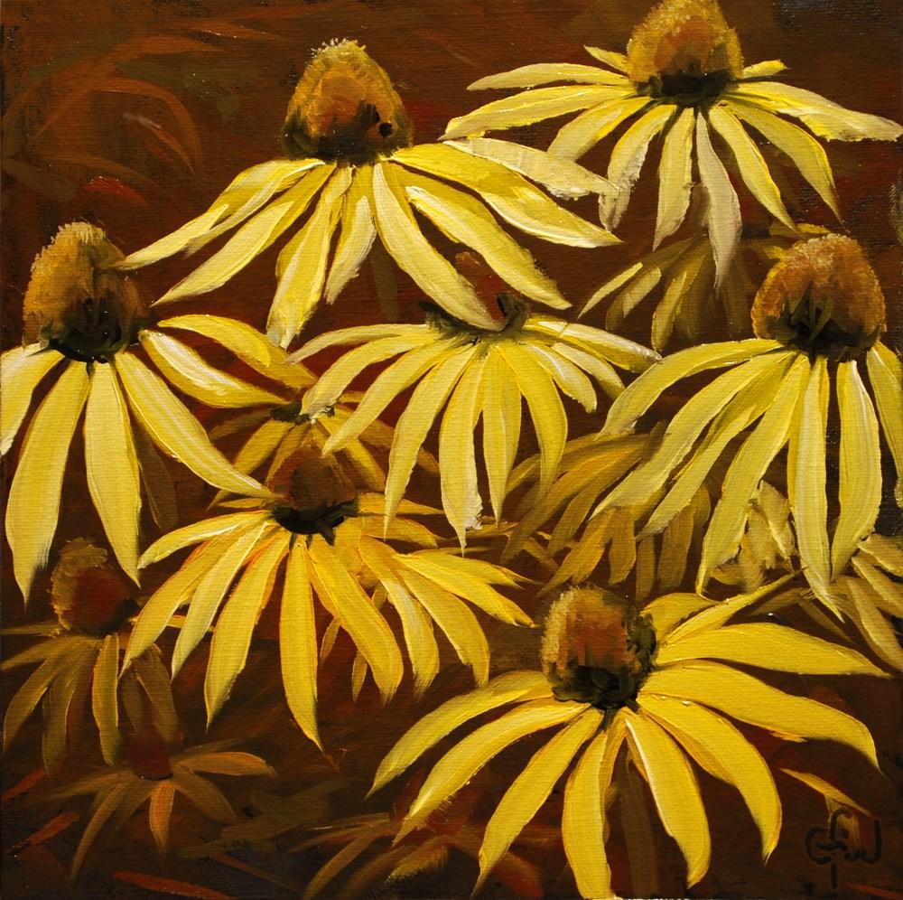 """""""Yellow Coneflowers"""" original fine art by Gary Westlake"""
