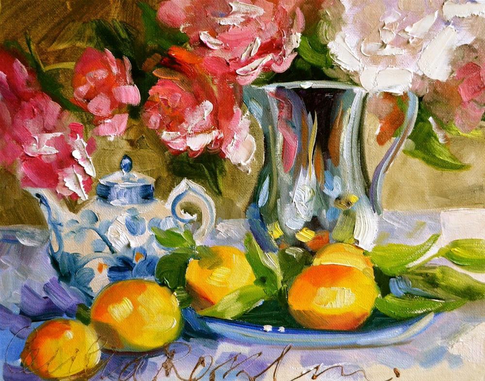 """""""Silver Jug"""" original fine art by Cecilia Rosslee"""
