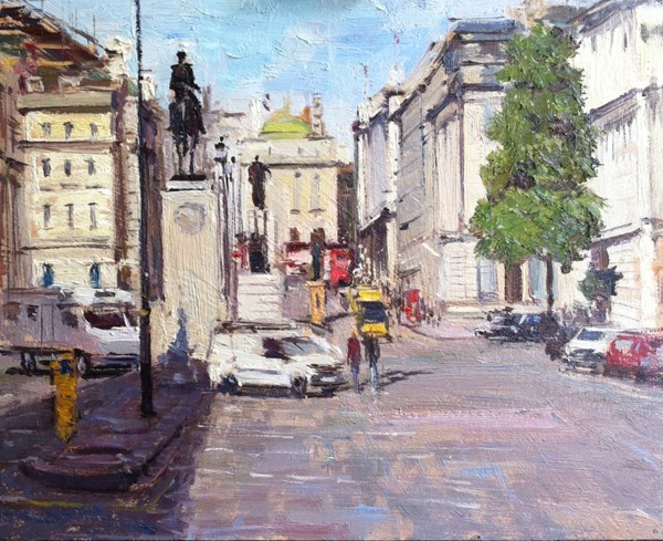 """Afternoon light, Pall Mall"" original fine art by Adebanji Alade"
