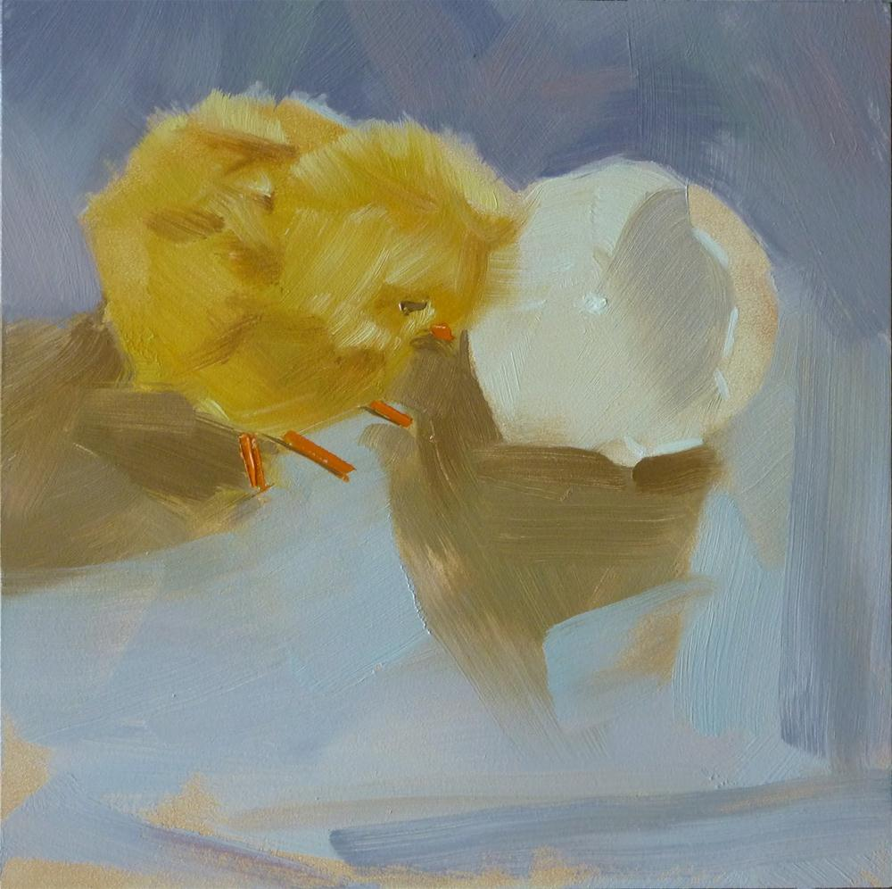 """Chicken or Egg"" original fine art by Ron Ferkol"
