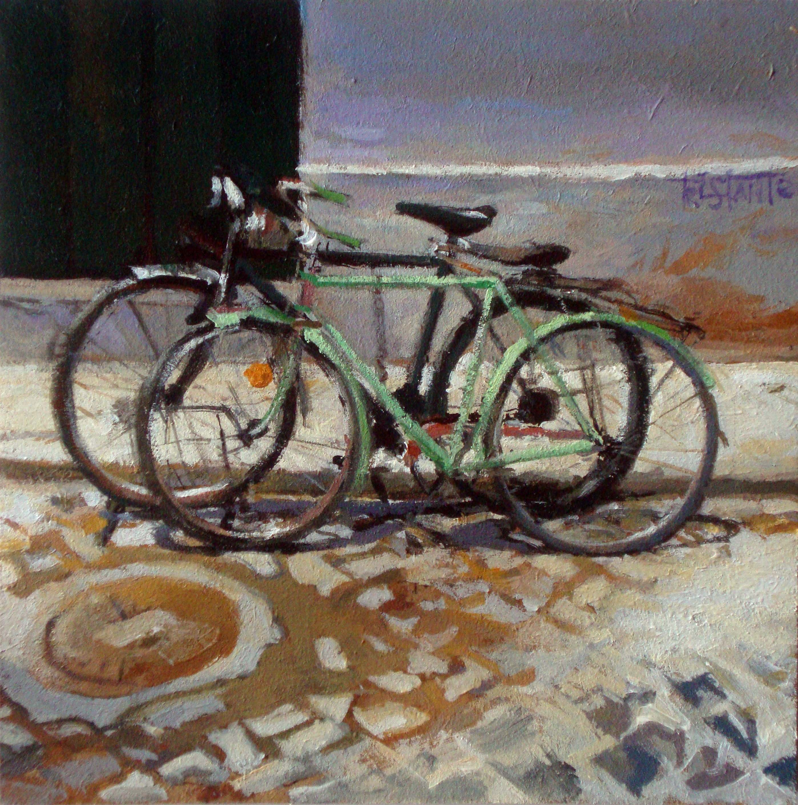 """Bikes"" original fine art by Víctor Tristante"