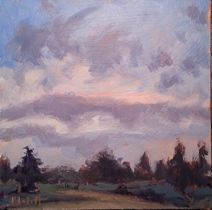 """Early Bird Morning Hike Daily Landscape Painting"" original fine art by Heidi Malott"
