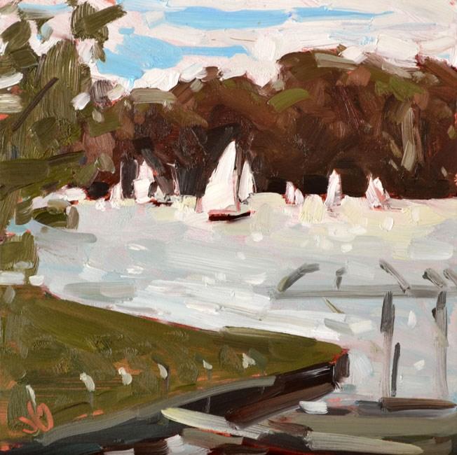 """Autumn Sail"" original fine art by Jessica Green"