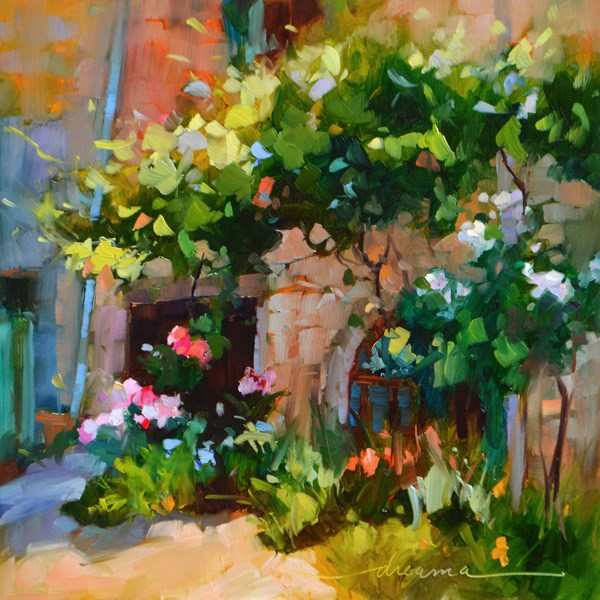 """Light Magic in France"" original fine art by Dreama Tolle Perry"