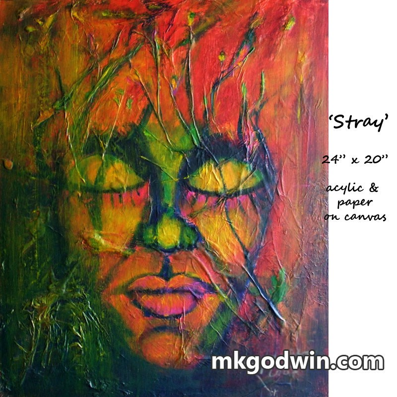 """Stray"" original fine art by Marie K Godwin"