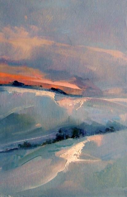 """Silent Snow"" original fine art by Anne Wood"