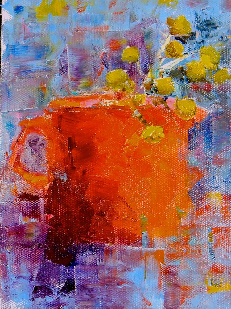 """Red Pitcher"" original fine art by Phyllis Davis"
