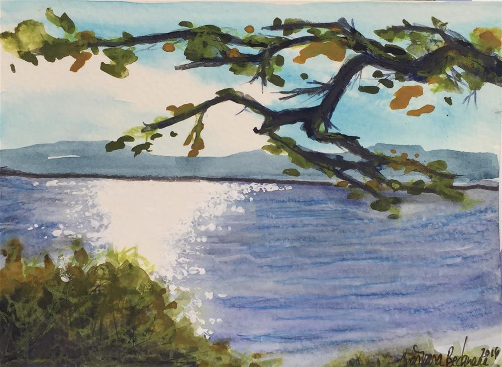 """Hudson River Watercolor"" original fine art by Barbara Beckmann"