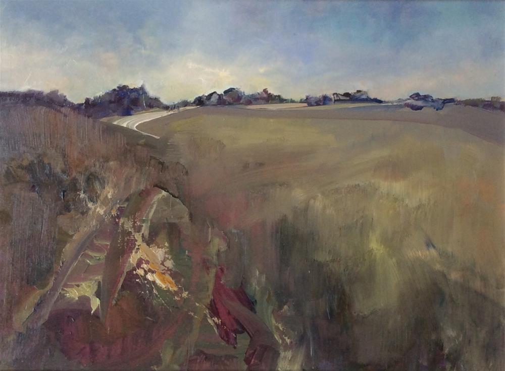 """""""Across the Heath"""" original fine art by Anne Wood"""