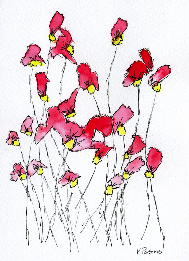 """Lovely Stems"" original fine art by Kali Parsons"