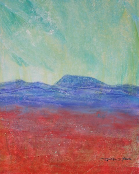 """Ruby Fields And Mary's Peak"" original fine art by Jana Johnson"