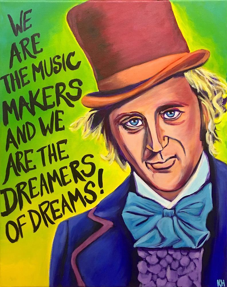 """Willy Wonka"" original fine art by Katherine Hambley"