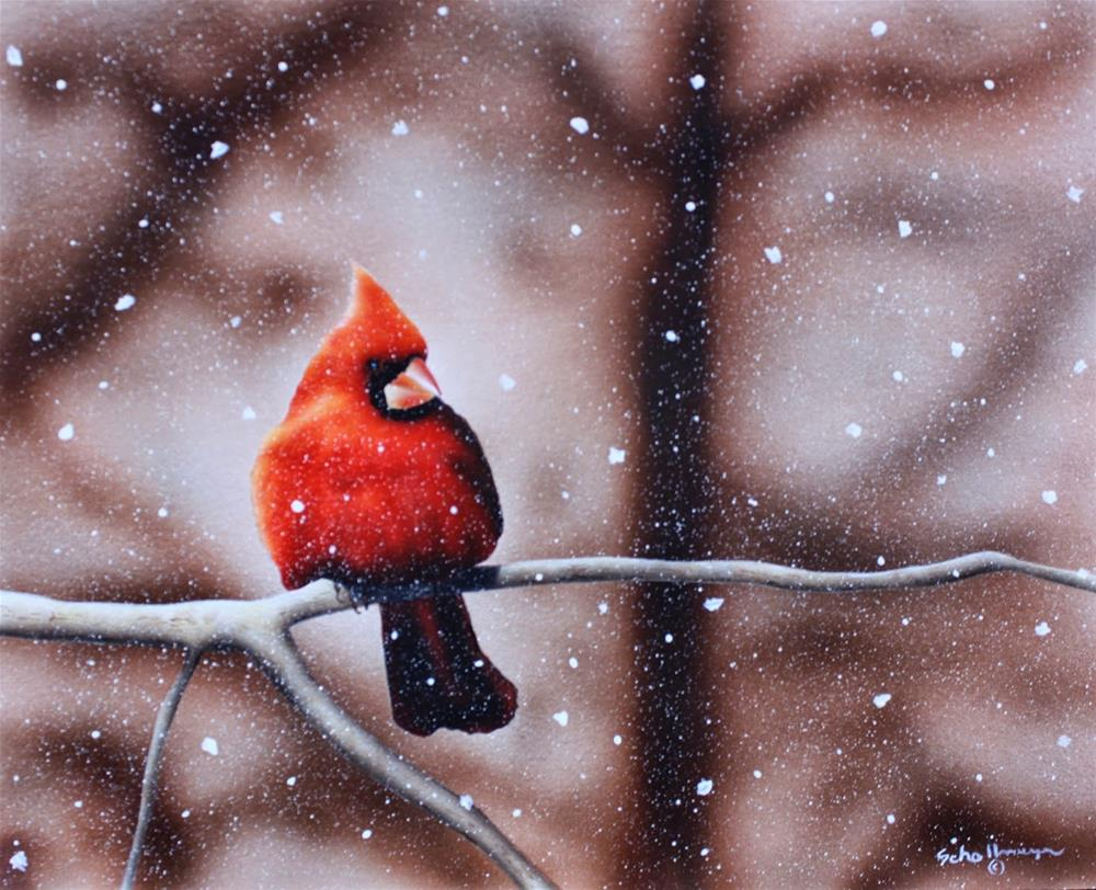 """Waiting Out Winter's Last Gasp"" original fine art by Fred Schollmeyer"
