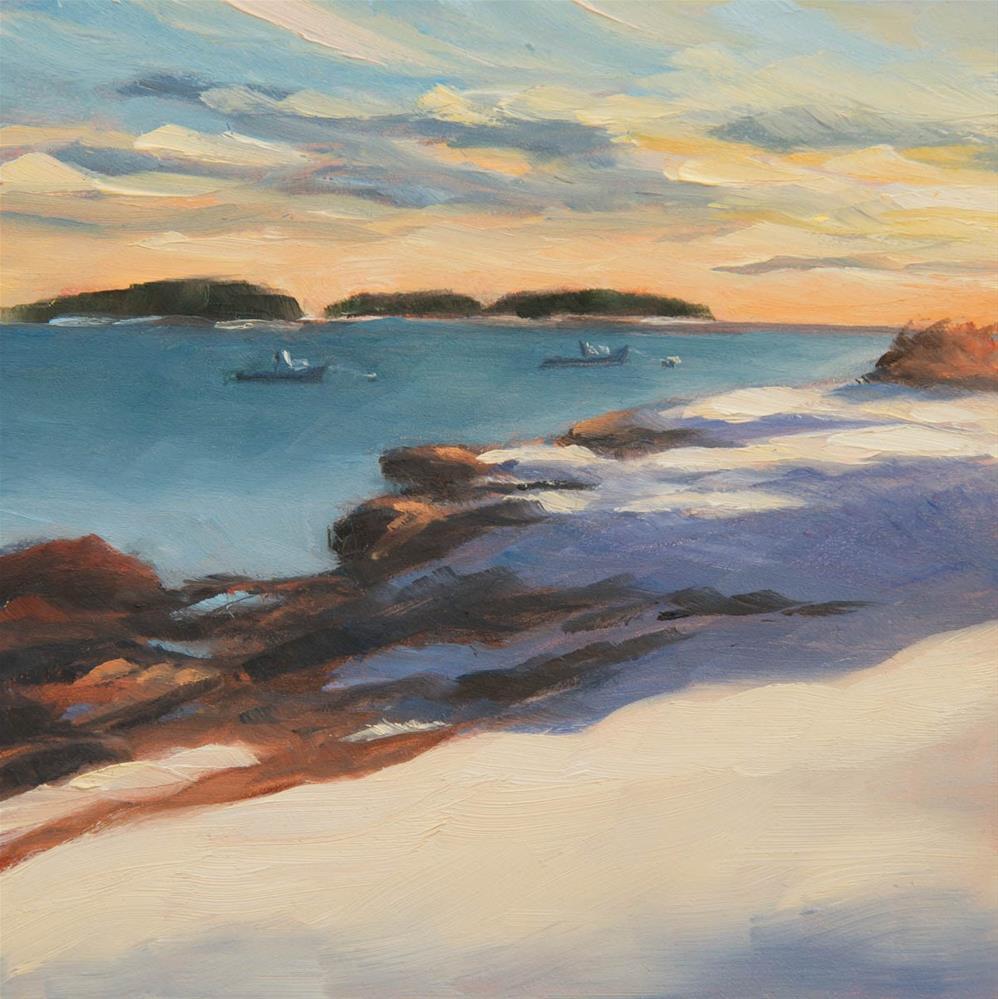 """#3 - Sunset - Kettle Cove"" original fine art by Sara Gray"