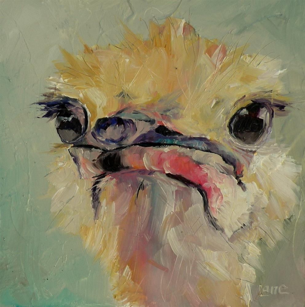 """OBEE O - AN OSTRICH © SAUNDRA LANE GALLOWAY"" original fine art by Saundra Lane Galloway"