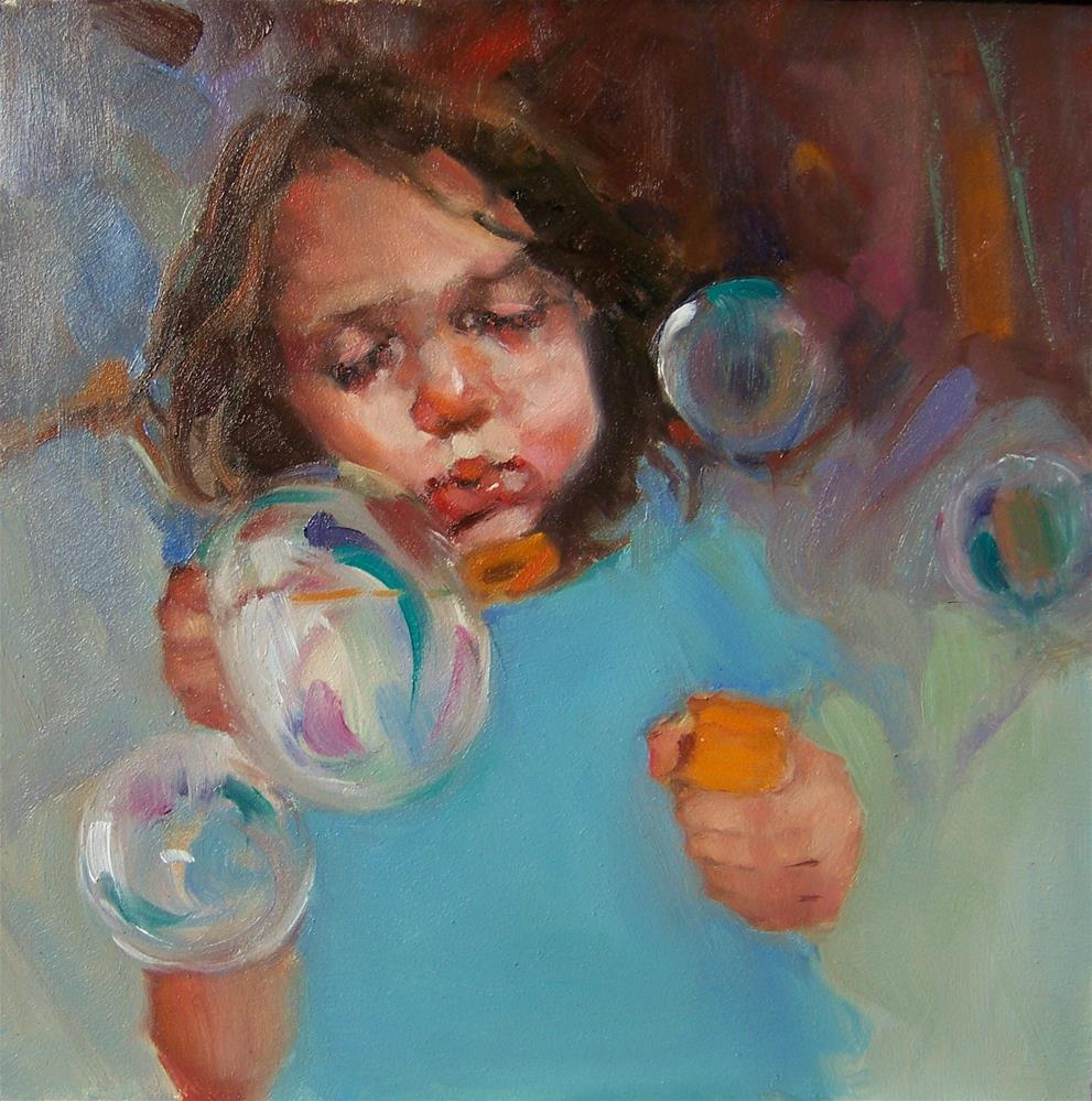 """Pretty Bubbles"" original fine art by Kim Roberti"