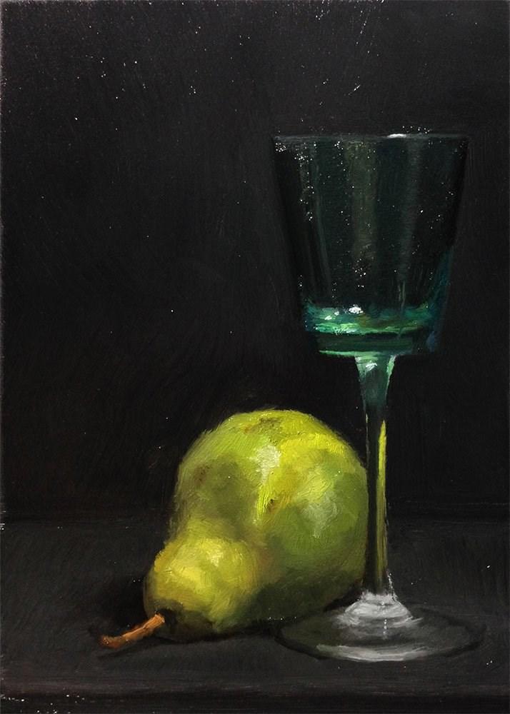 """""""Light Through an Emerald Colored Glass"""" original fine art by Chris Beaven"""