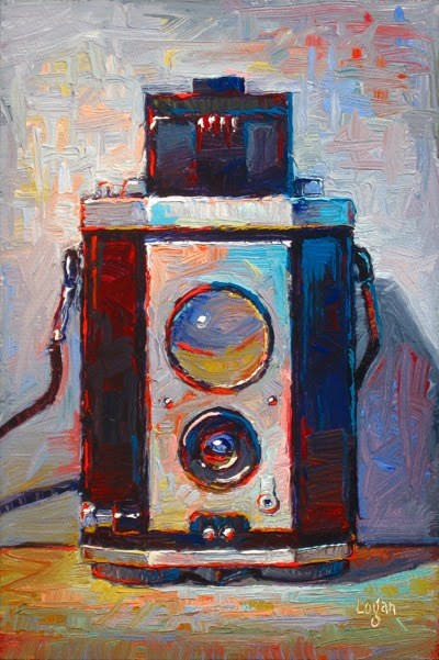 """Kodak Brownie Reflex Camera"" original fine art by Raymond Logan"