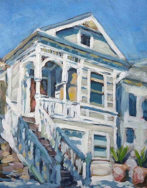 """Dogpatch House"" original fine art by J. Farnsworth"