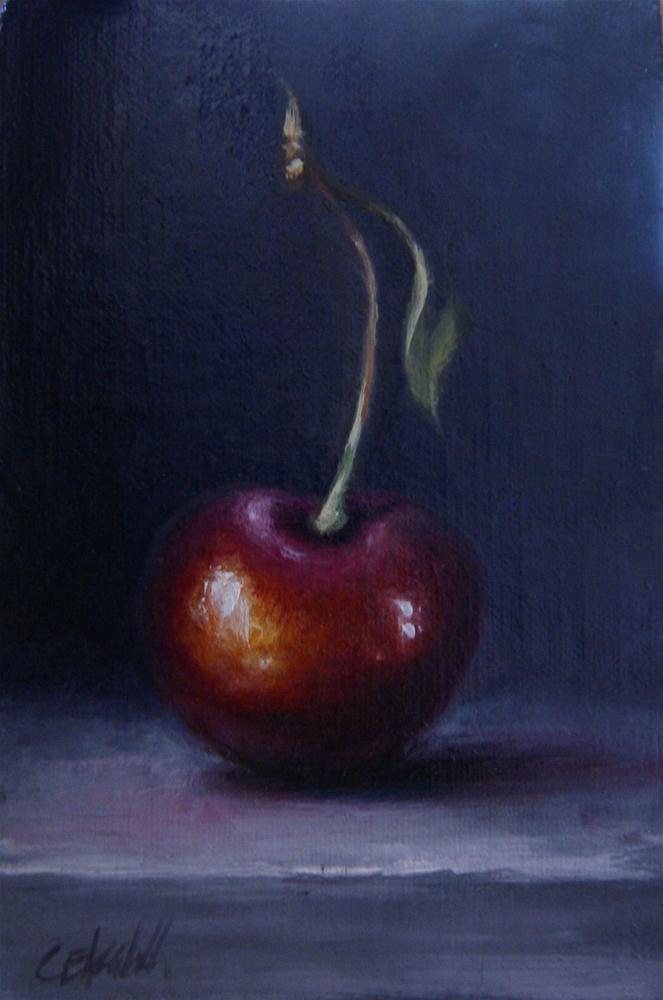 """Cherry Still Live"" original fine art by Carolina Elizabeth"