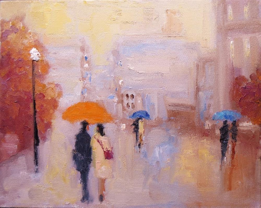 """September in Paris"" original fine art by Astrid Buchhammer"