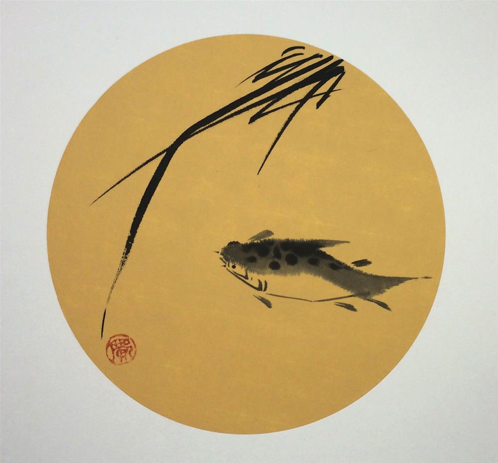 """Ancient fish"" original fine art by R kwong"