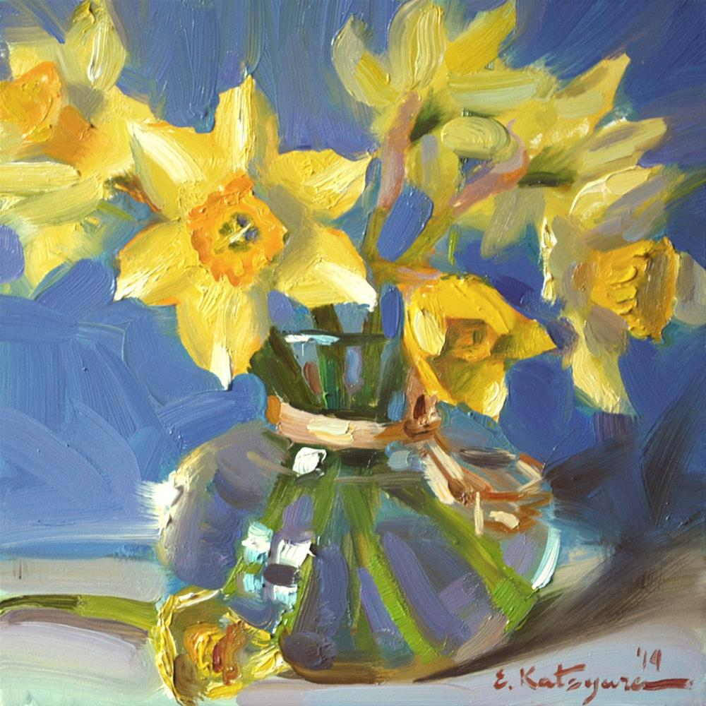 """Daffodils of May"" original fine art by Elena Katsyura"