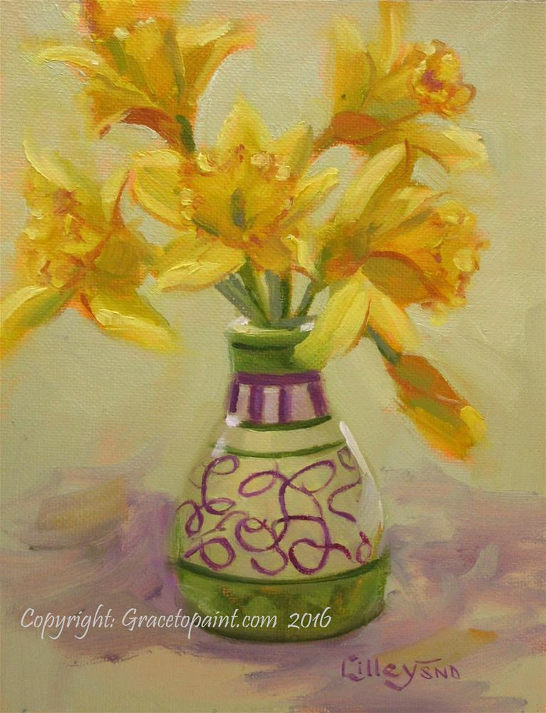 """Daffs"" original fine art by Maresa Lilley"