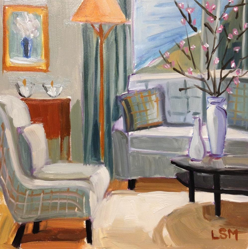 """Teal Tea Room"" original fine art by Linda Marino"