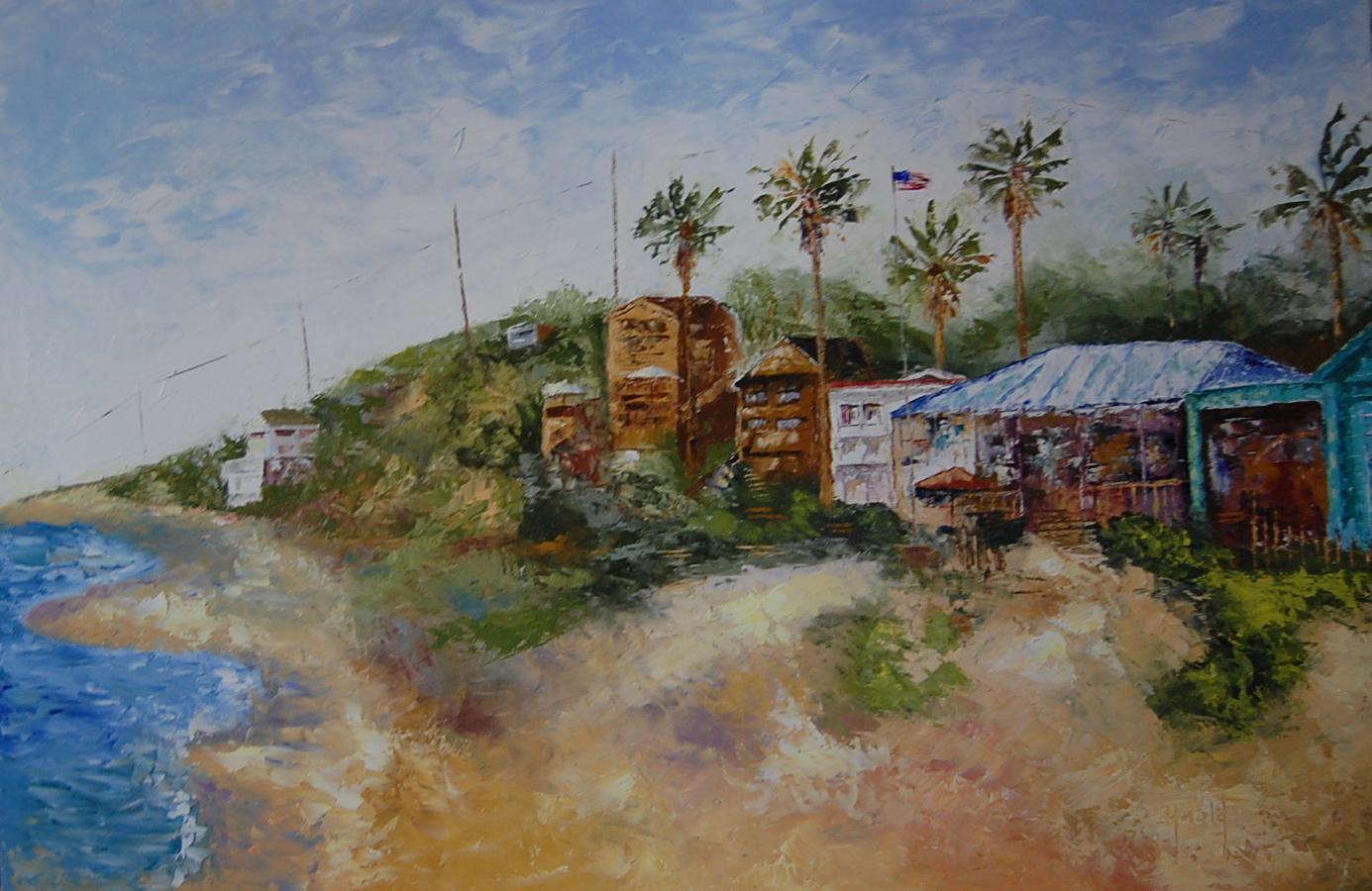 """""""Crystal Cove for John"""" original fine art by Deborah Harold"""