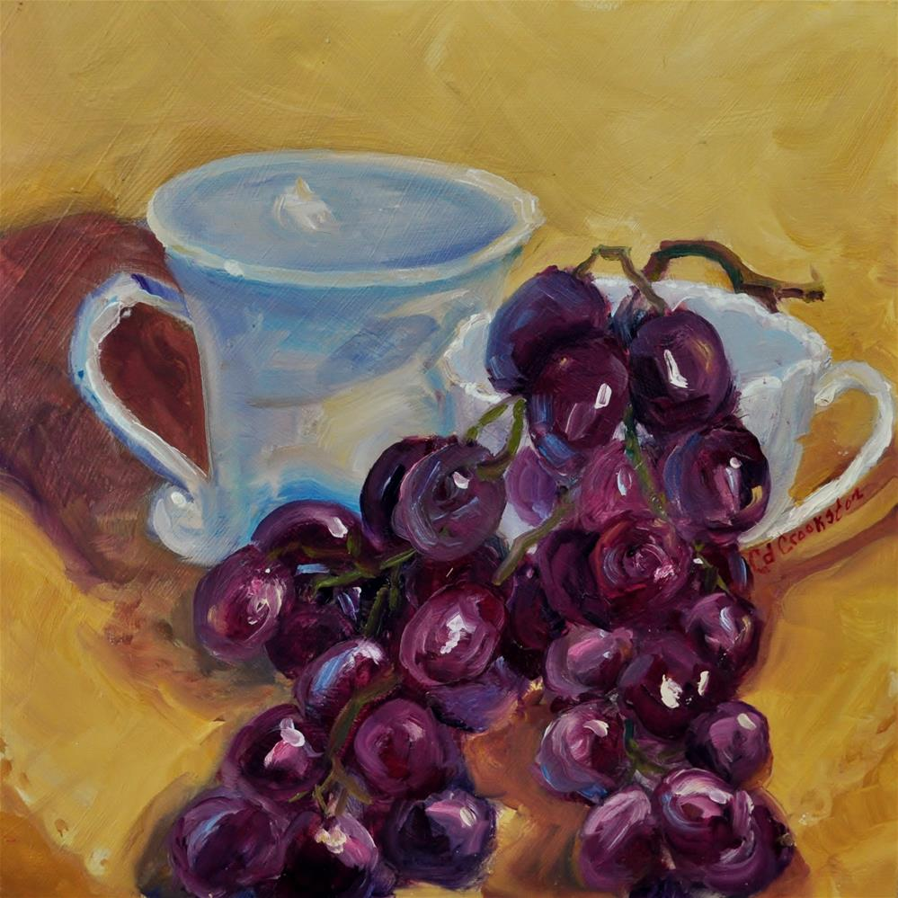 """ochre and grapes"" original fine art by Catherine Crookston"